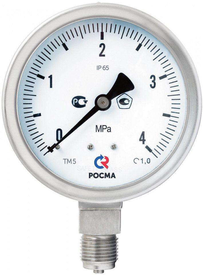 Манометр коррозионностойкий Росма ТМ-521Р Б (безопасное исполнение)