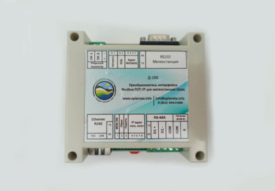 Преобразователь интерфейса Modbus-TCP IP